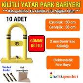 Kilitli Yatar Oto Park Bariyeri (Gömme Kilitli) 10 Adet
