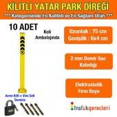 Kilitli Yatar Oto Park Direği 75 Cm (10 Adet)