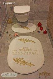 Bonny Home 3lü Lüks Banyo Paspası Klozet Seti (Ücretsiz Kargo)