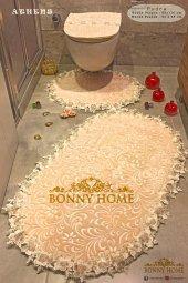 Bonny Home 3lü Banyo Paspas Halısı Klozet Takımı(Ücretsiz Kargo)