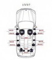 BMW 7 Serisi STEG İtaly Hoparlör Kiti-3