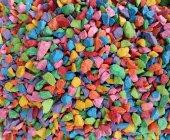 Renkli Çakıl Taşları Akvaryum Ve Terarıum İçin