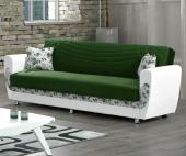 Kardelen Kanepe - Yeşil (Sandıklı ve Yataklı)