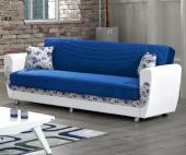 Kardelen Kanepe - Mavi (Sandıklı ve Yataklı)