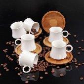 Ms Morry Porselen Bambu 6lı Kahve Fincan Takımı 9334