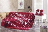 Dolce Bonita Home Çift Kişilik Pamuklu Battaniye Happy Valentines