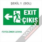 Acil Çıkış Exit Yönlendirme Levhası FOTOLÜMEN 25x12,5 3 mm dekota-2