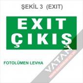 Acil Çıkış Exit Yönlendirme Levhası FOTOLÜMEN 25x12,5 3 mm dekota-3