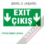 Acil Çıkış Exit Yönlendirme Levhası FOTOLÜMEN 25x12,5 3 mm dekota-4