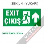 Acil Çıkış Exit Yönlendirme Levhası FOTOLÜMEN 25x12,5 3 mm dekota-5