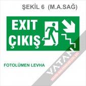 Acil Çıkış Exit Yönlendirme Levhası FOTOLÜMEN 25x12,5 3 mm dekota-6