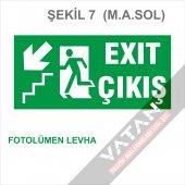 Acil Çıkış Exit Yönlendirme Levhası FOTOLÜMEN 25x12,5 3 mm dekota-7