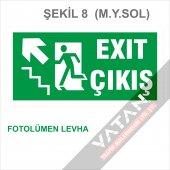 Acil Çıkış Exit Yönlendirme Levhası FOTOLÜMEN 25x12,5 3 mm dekota-8