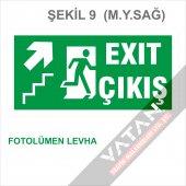 Acil Çıkış Exit Yönlendirme Levhası FOTOLÜMEN 25x12,5 3 mm dekota-9