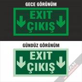 Acil Çıkış Exit Yönlendirme Levhası FOTOLÜMEN 25x12,5 3 mm dekota-10