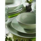 Kütahya Porselen Nc Harlek Granül Yeşil 24 Parça 6 Kişilik Yemek Takımı