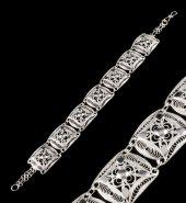 Işlemeli Telkari Gümüş Bileklik