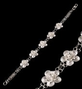 Papatya Modeli Telkari Gümüş Bileklik