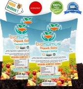 Biohumus Organik Gübre Bitki Besin Gübresi 100 Kg Dörtlü