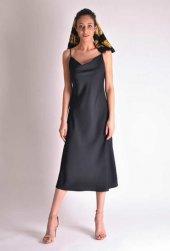 Siyah Saten Elbise