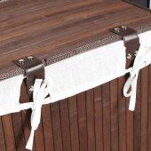 Adore Handy Mate Bambu Çamaşır Sepeti - Kahverengi-4