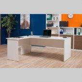 Adore New York L Ofis Masası - Lake Beyaz-2