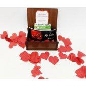 Aşk Bankası Aşkımı Bir Ömür Sakla Ahşap Hediye Kutusu