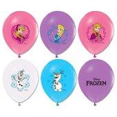 Balon 4+1 Frozen Baskılı Pastel Renk 100 Adet