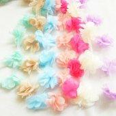 Şifon Çiçek - Lila - 10lu-2