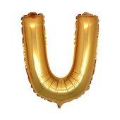 U Harf Altın Folyo Balon 90 cm-2