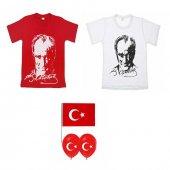 23 Nisan Atatürk Baskılı Tişört 23 Nisan Tişörtü Pamuklu