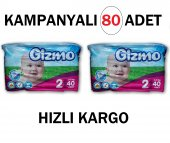 Gizmo 2 Numara 3 6 Kg Bebek Bezi 80 Adet Kampanya En Ucuz Uygun Fiyatı