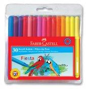 Faber Castell Fiesta Keçeli Kalem, 30 Lu Poşet
