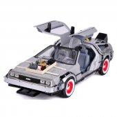 Geleceğe Dönüş Arabası Seri 3 Metal Model Araba Back To The Future Delorean 1-24 Ölçek
