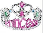 Yazılı Taşlı Prenses Tacı Gümüş