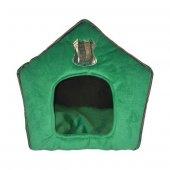 Allfi Pet Kumaş Kedi Evi Yeşil