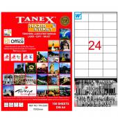 Tanex Lazer Etiket 100 Yp 70x35 Laser Copy...