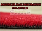 Kırmızı Dış Mekan Çimi SUNİ ÇİM HALI 1X15 METRE