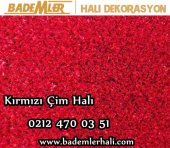 Kırmızı Dış Mekan Çimi SUNİ ÇİM HALI 1X15 METRE-2