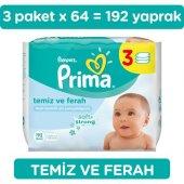 Prima Islak Havlu Mendil Temiz Ve Ferah 3lü...