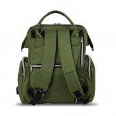 My Valice Smart Bag Happy Mom Usbli Anne Bebek Bakım ve Sırt Çantası Yeşil-3