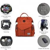 My Valice Smart Bag Happy Mom Usbli Anne Bebek Bakım ve Sırt Çantası Yeşil-8