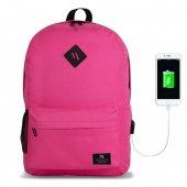 My Valice Smart Bag SPECTA Usb Şarj Girişli Akıllı Sırt Çantası Pembe-2