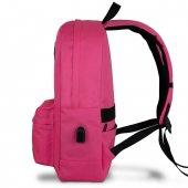 My Valice Smart Bag SPECTA Usb Şarj Girişli Akıllı Sırt Çantası Pembe-3