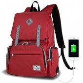 My Valice Smart Bag Mother Star Usbli Anne Bebek Bakım Ve Sırt Çantası Kırmızı