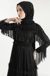 Sitare Hennin Elbise 3823-3