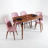 Evform Yakut 4 Kişilik Mutfak Masası Yemek Masa...