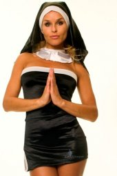 Lablinque Seksi Fantezi Rahibe Kostümü (Art...