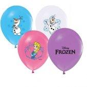 25 Adet Frozen Baskılı Renkli Latex Balon