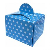 Lokumluk Karton Puantiyeli Mavi